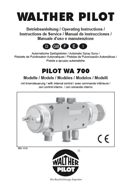 PILOT WA 703-K User Manual PDF Download